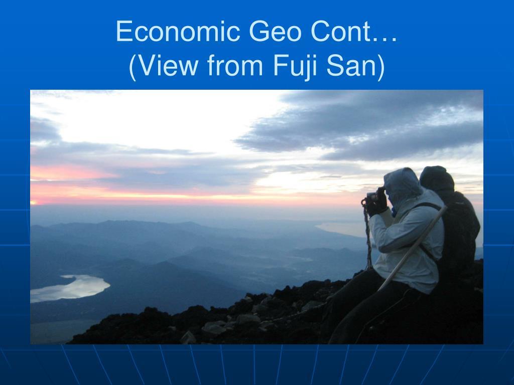 Economic Geo Cont…