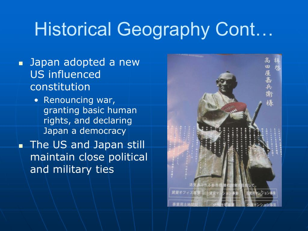 Historical Geography Cont…