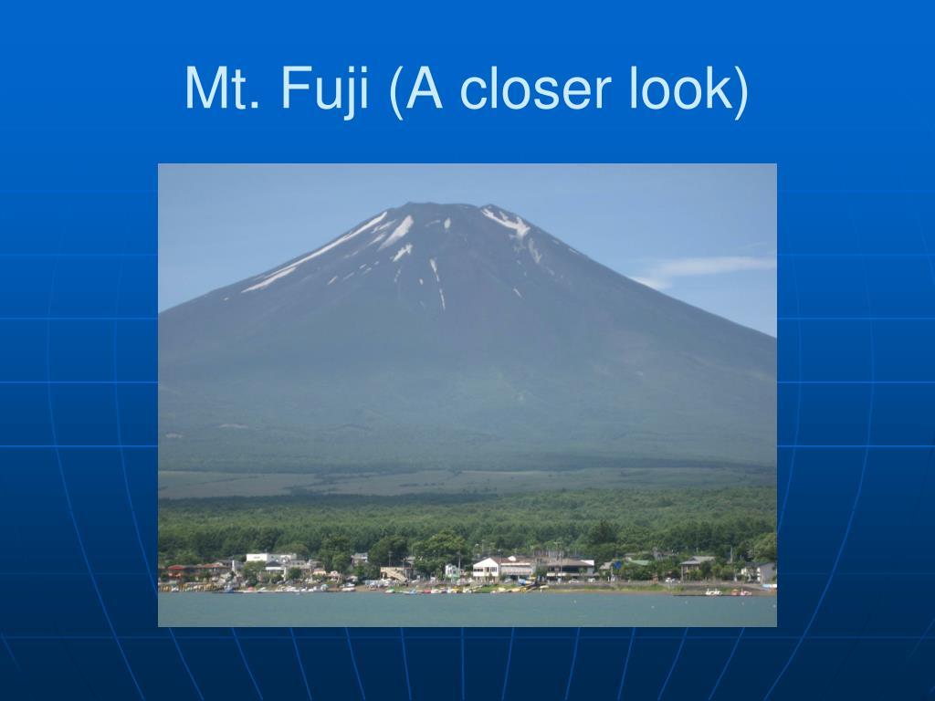 Mt. Fuji (A closer look)