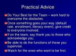 practical advice13