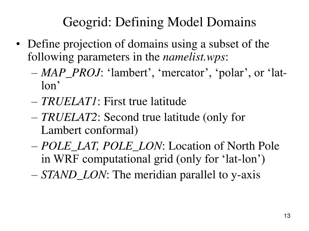 Geogrid: Defining Model Domains