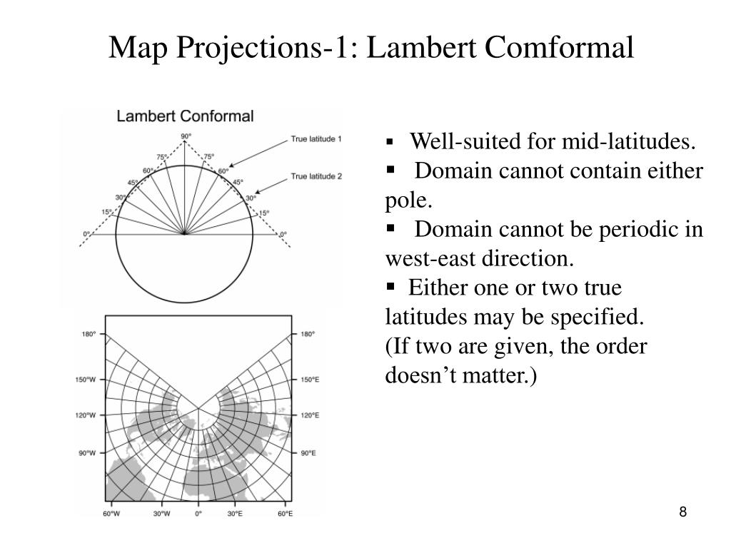 Map Projections-1: Lambert Comformal