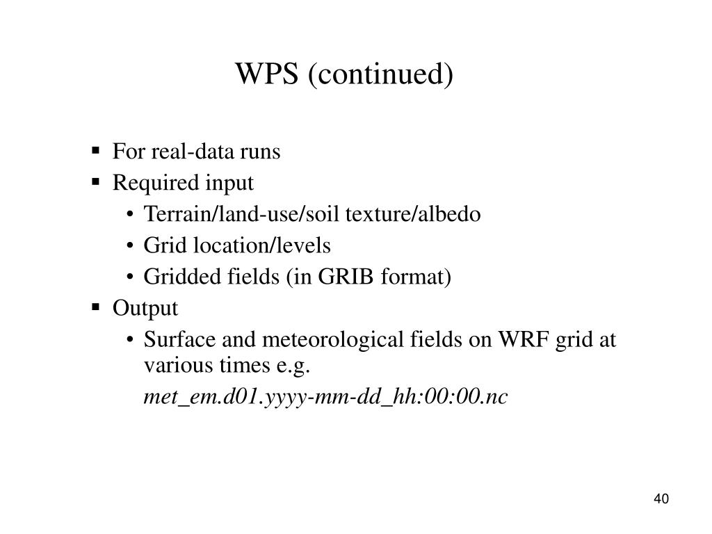 WPS (continued)