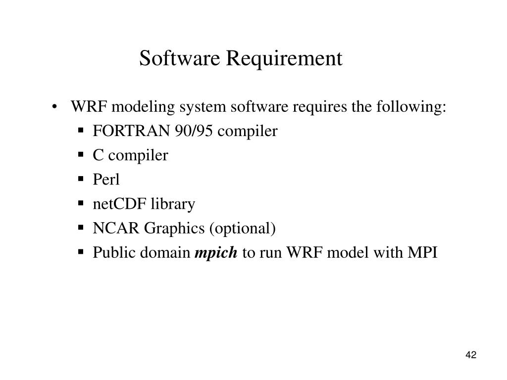Software Requirement