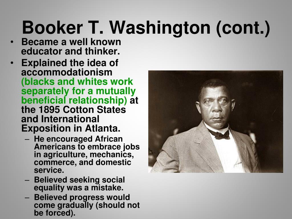 booker t washingtons and w e b duboiss activism for equality of african americans Plan in the struggle for black equality and the  reflects minority citizens like african americans,  booker t washington and web du bois arose to.