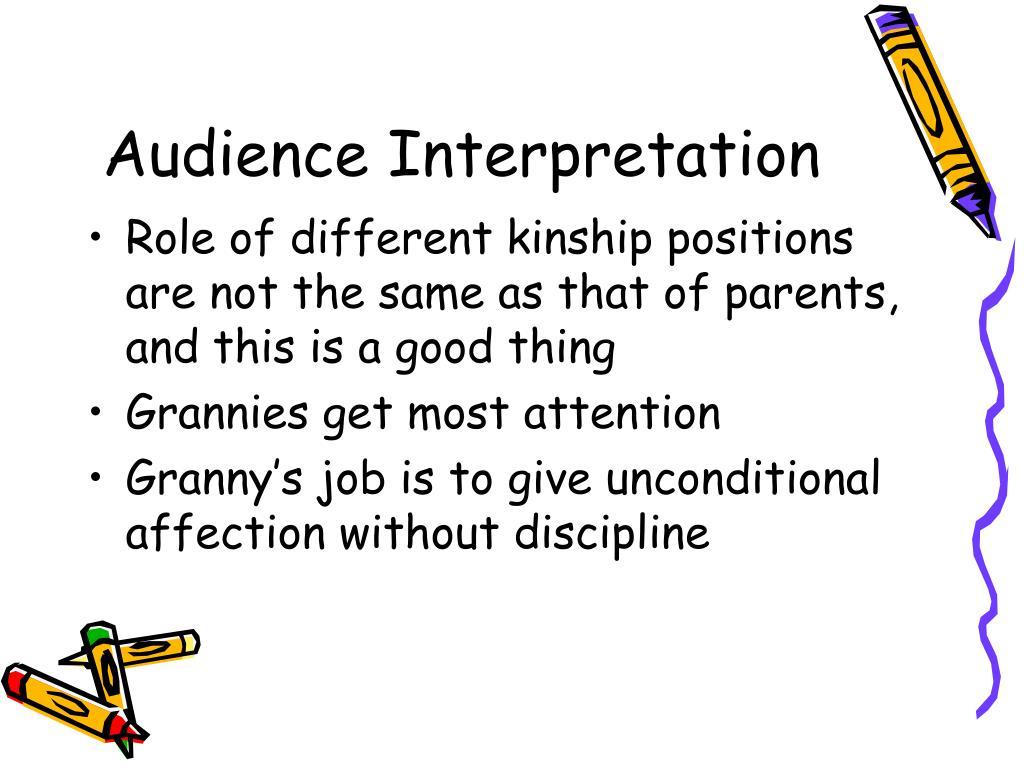 Audience Interpretation