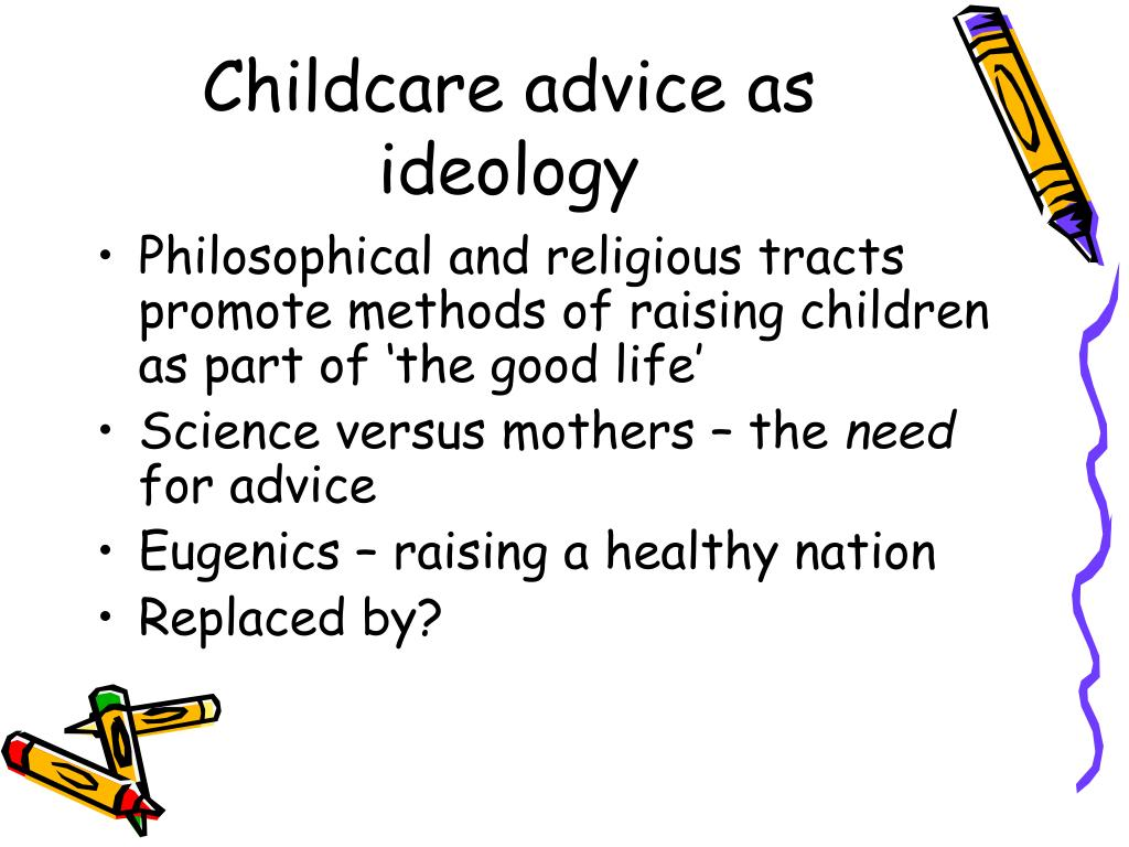 Childcare advice as ideology