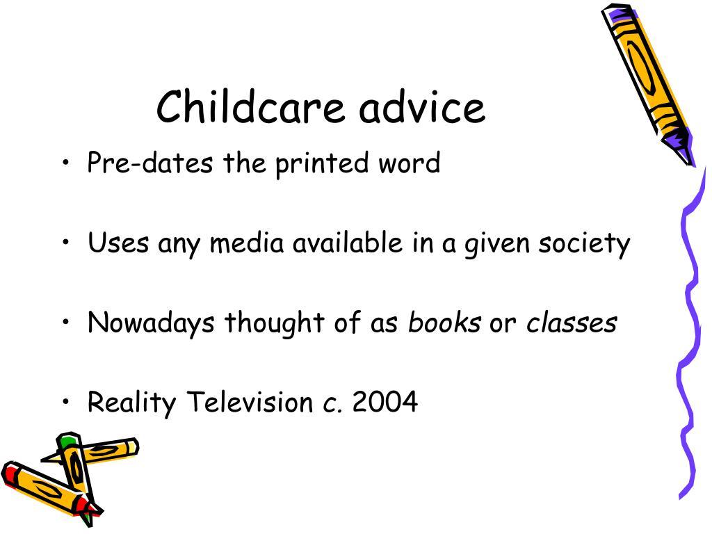 Childcare advice
