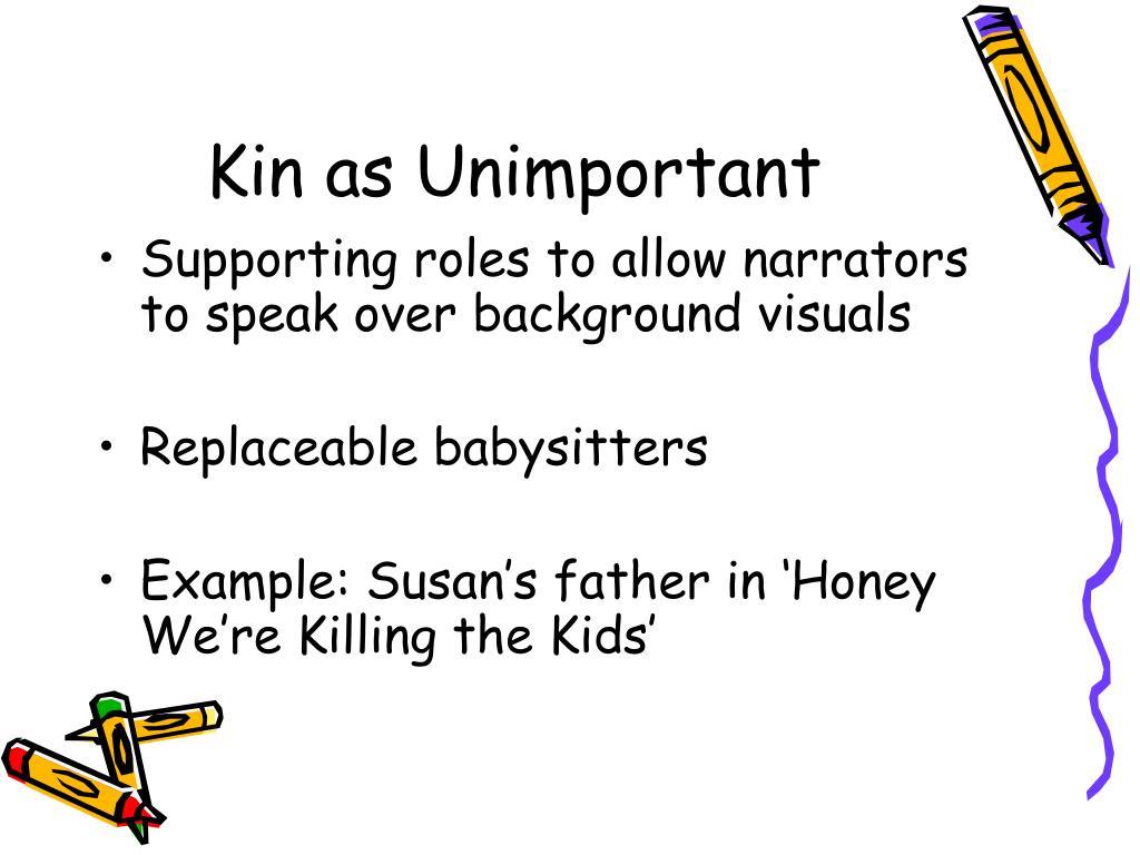Kin as Unimportant