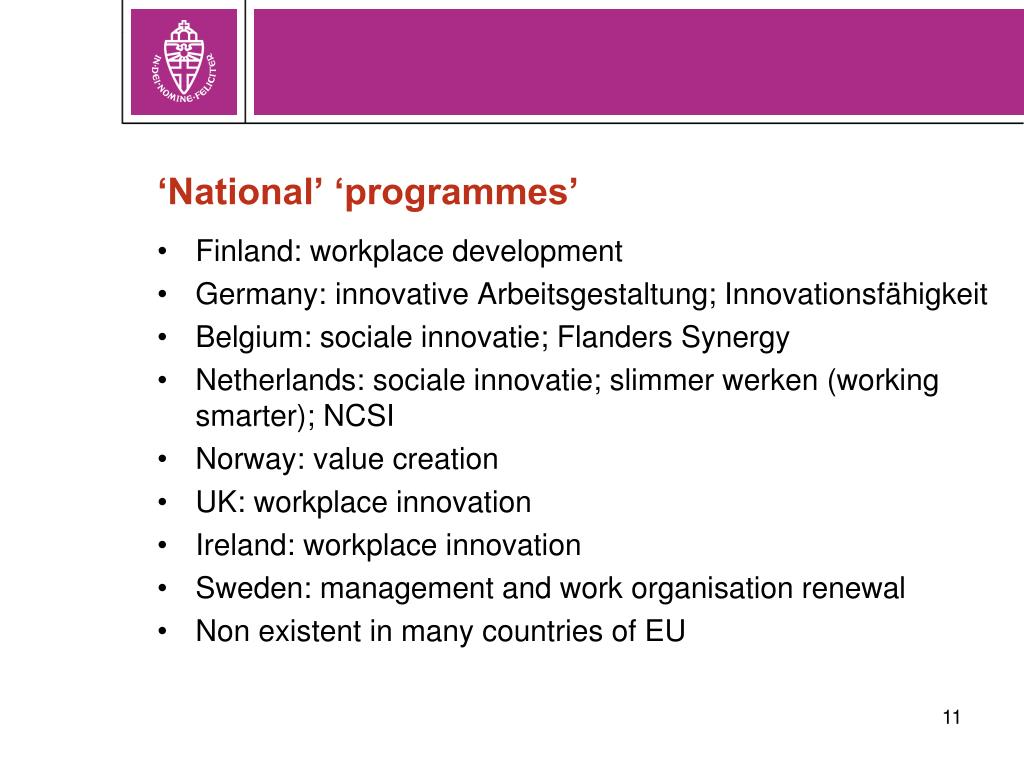 'National' 'programmes'
