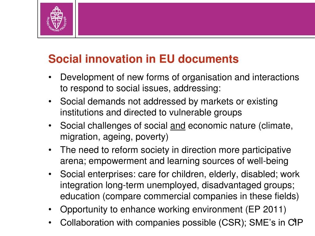 Social innovation in EU documents