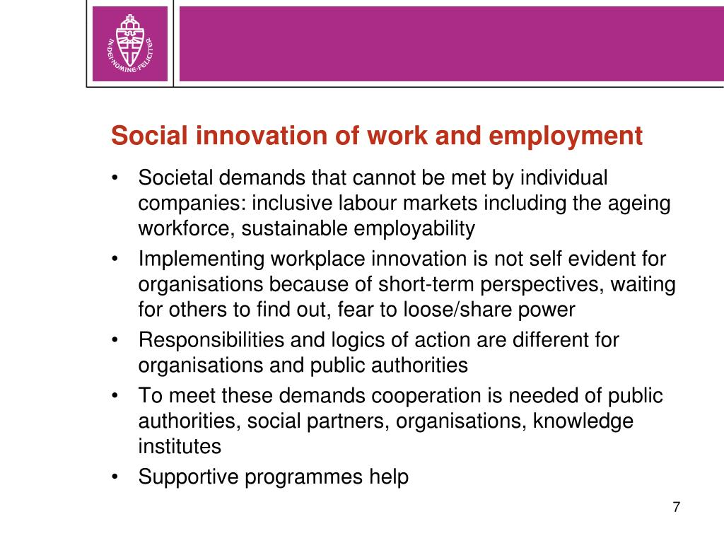 Social innovation of work and employment