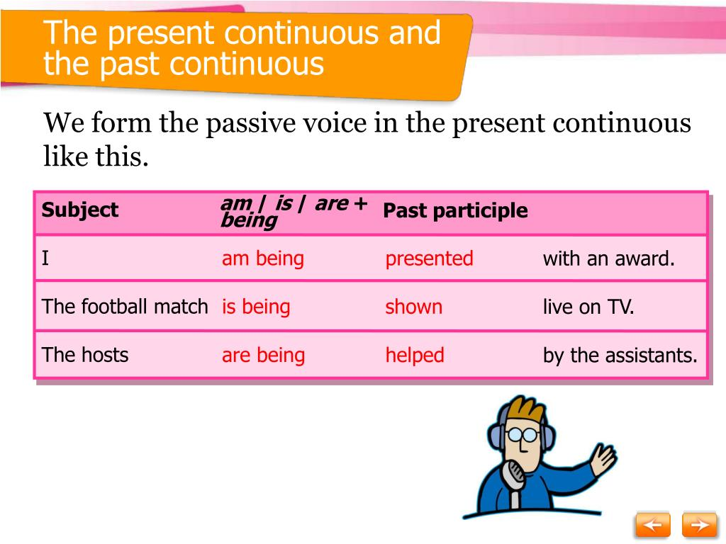 The present continuous and