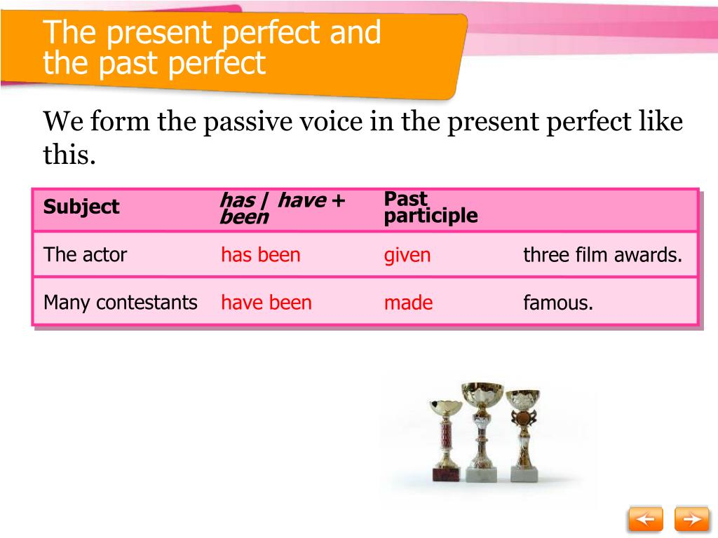 The present perfect and