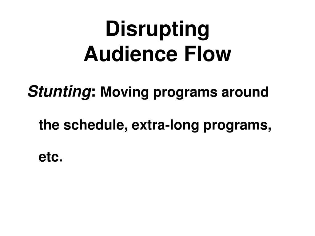 Disrupting
