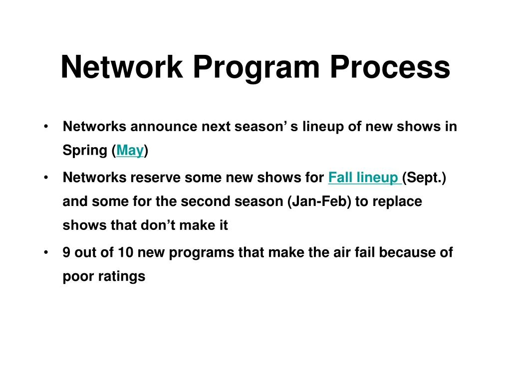 Network Program Process