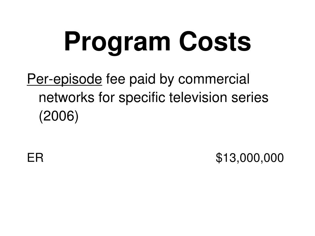 Program Costs
