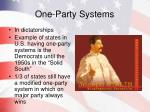 one party systems