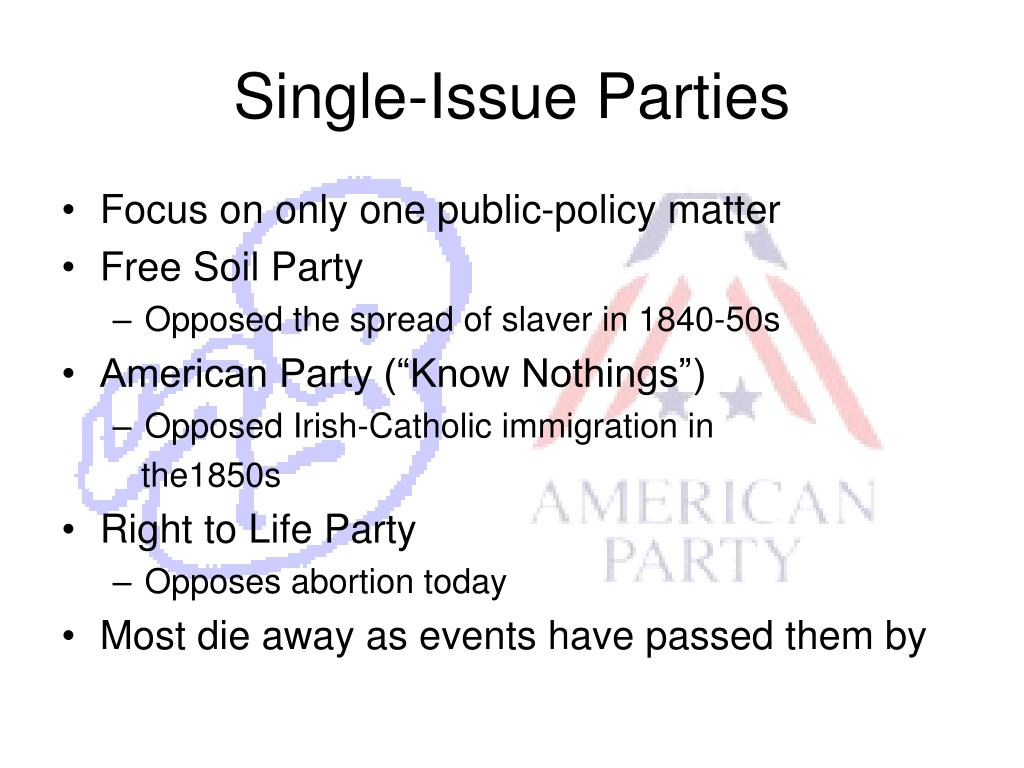 Single-Issue Parties