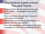 the electoral system and the two party system