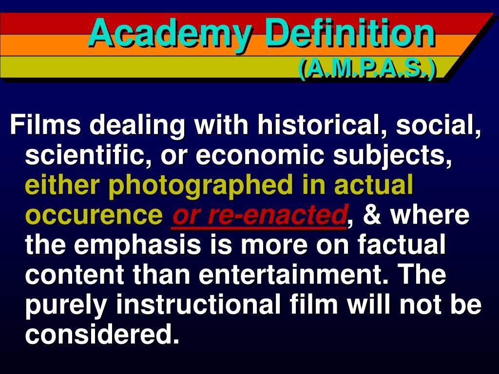 Academy Definition