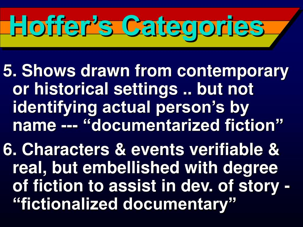 Hoffer's Categories