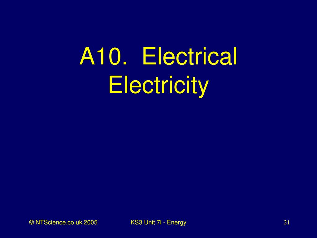 A10.  Electrical