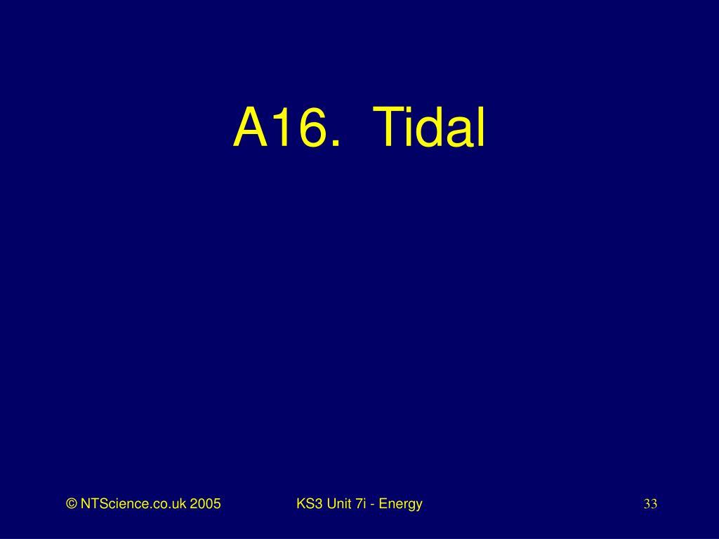A16.  Tidal