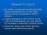 network tv sports
