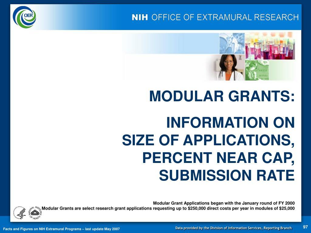 MODULAR GRANTS: