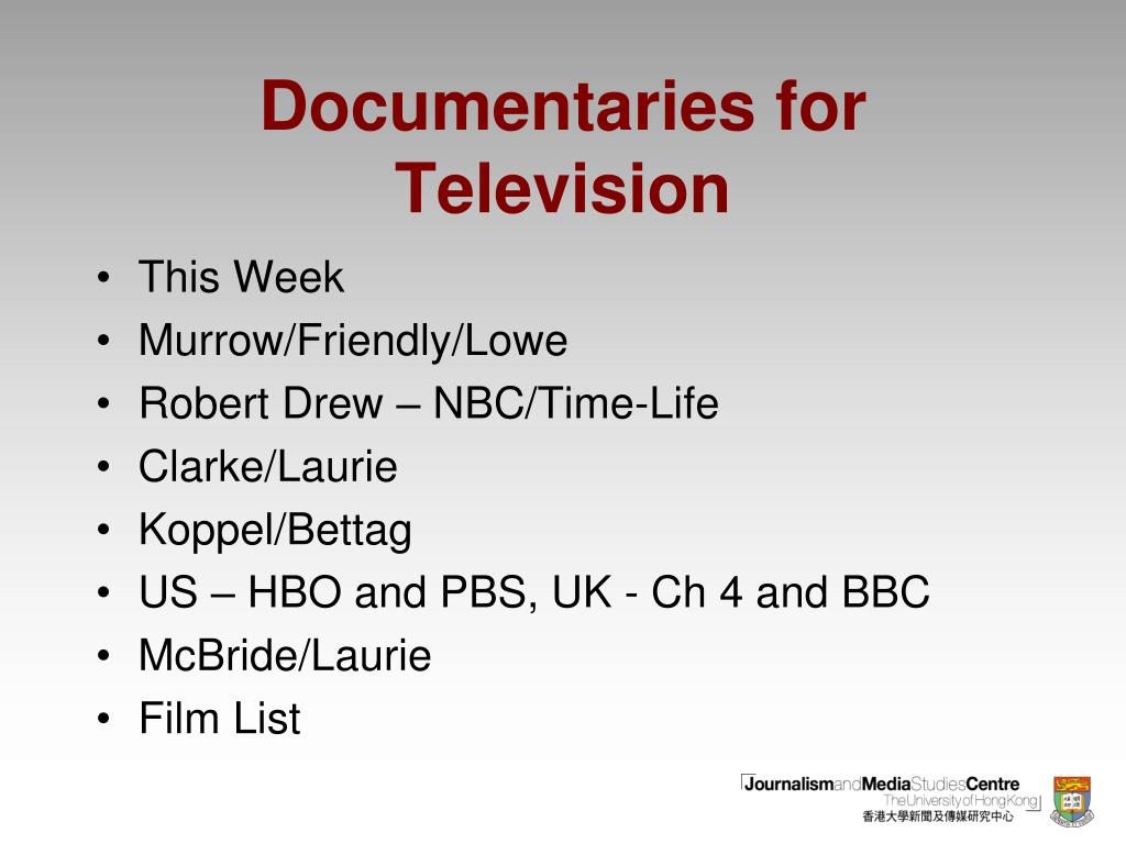 documentaries for television