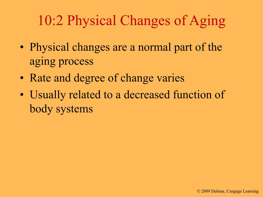 changes in aging Health conditions, the realities of aging, and emotions can all stand in the way of an active sex life for men in later years.