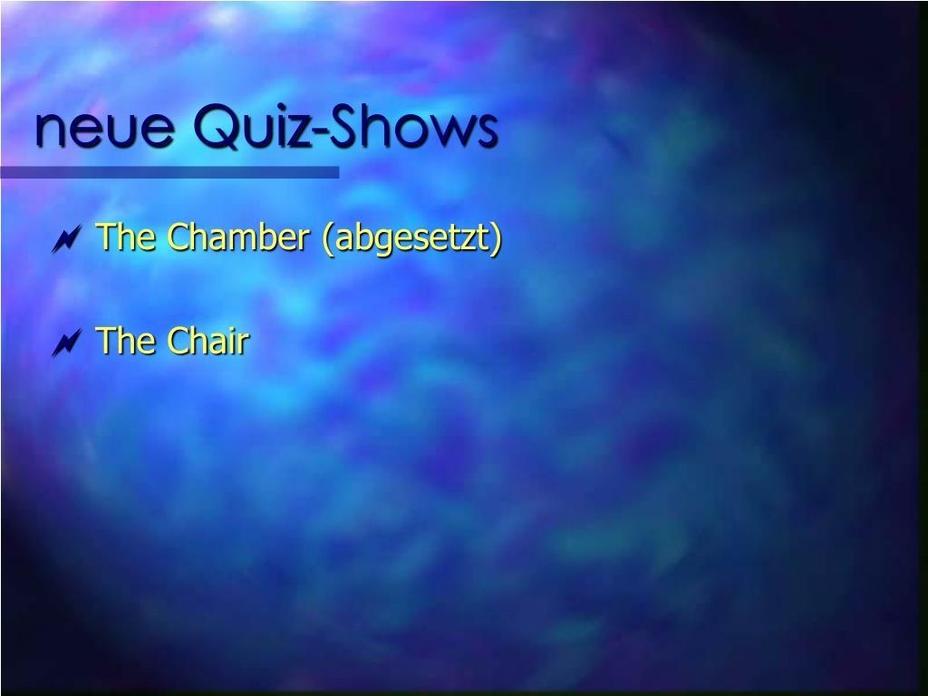 neue Quiz-Shows