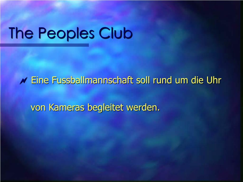 The Peoples Club