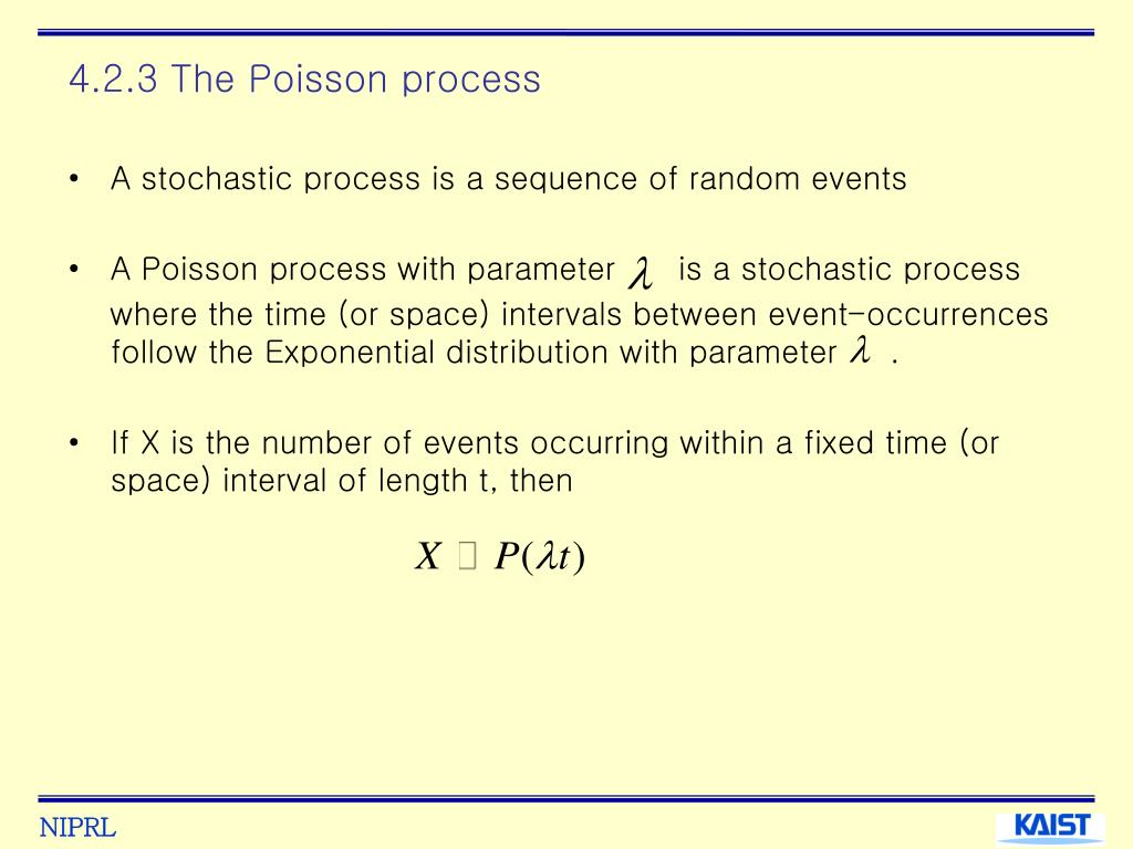 4.2.3 The Poisson process
