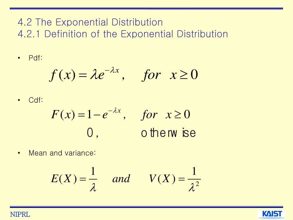 4.2 The Exponential Distribution