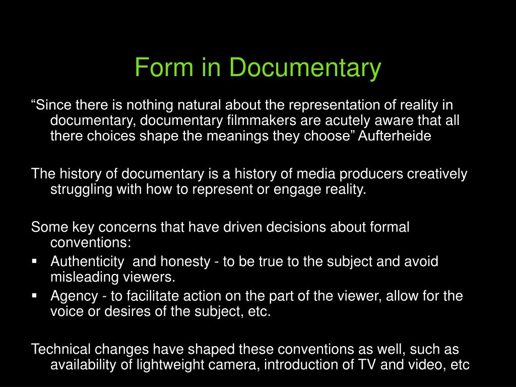 Form in Documentary