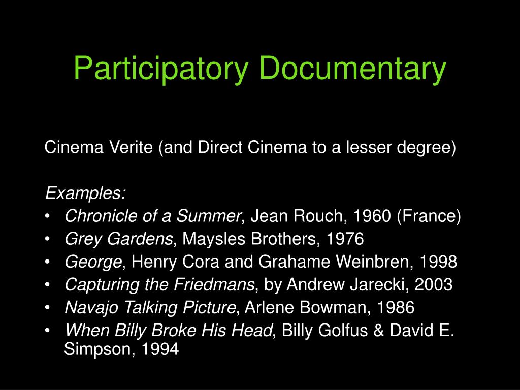 Participatory Documentary