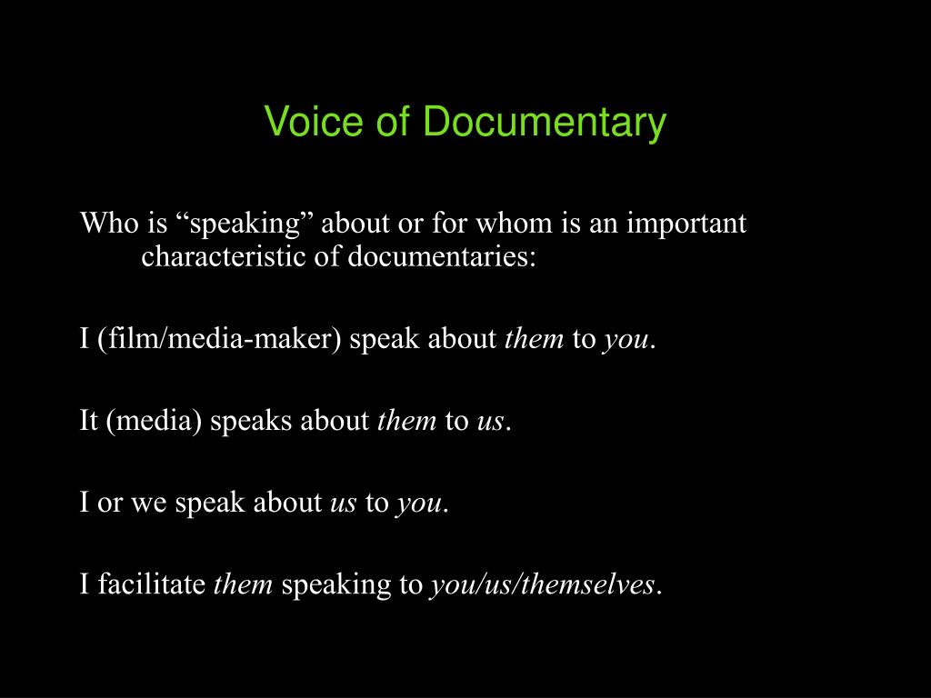 Voice of Documentary
