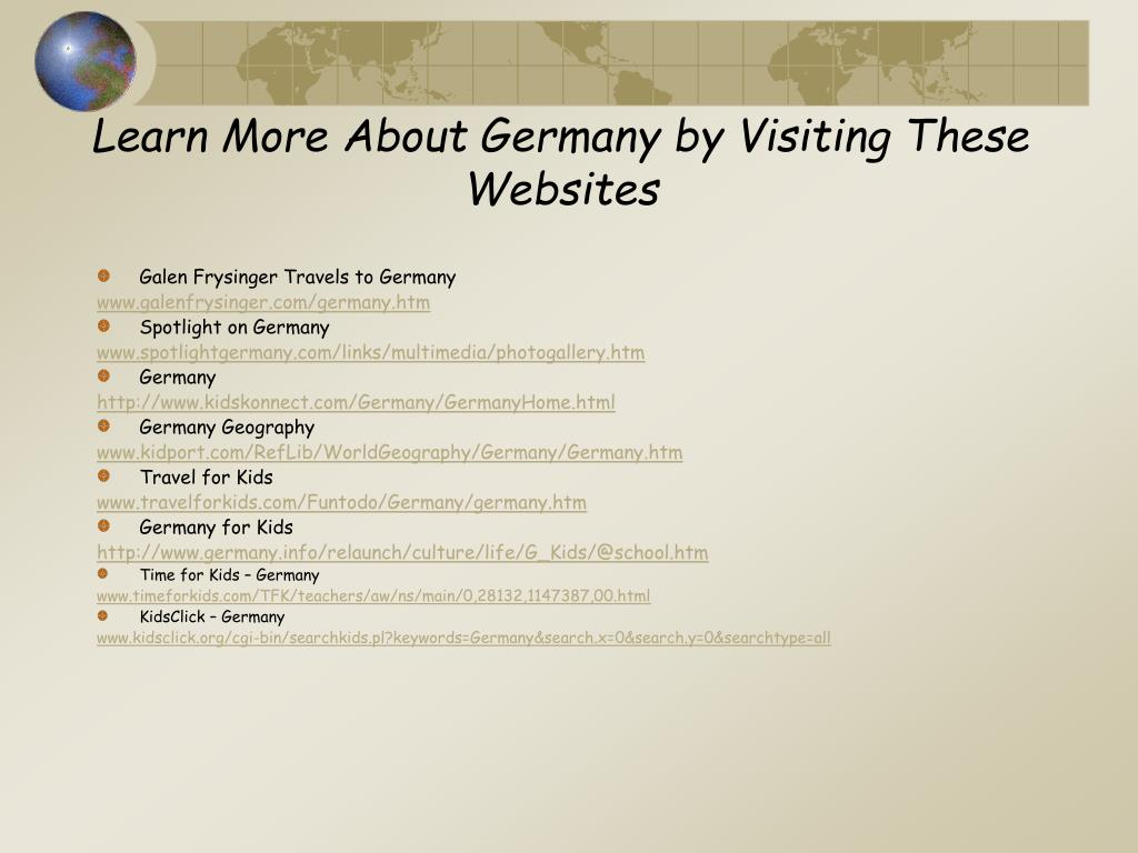 Learn More About Germany by Visiting These Websites