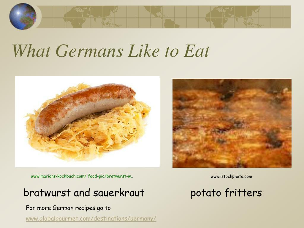 What Germans Like to Eat