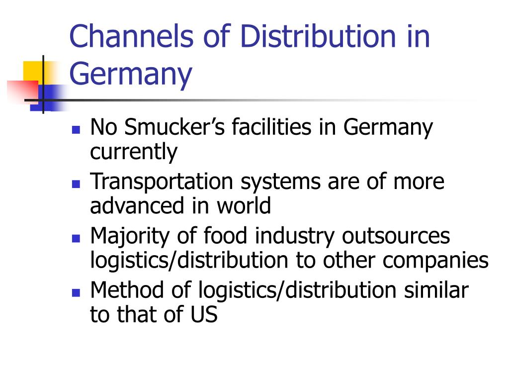 Channels of Distribution in Germany