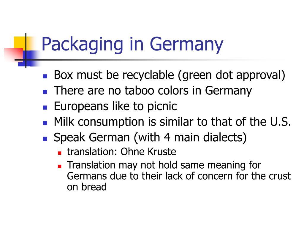 Packaging in Germany