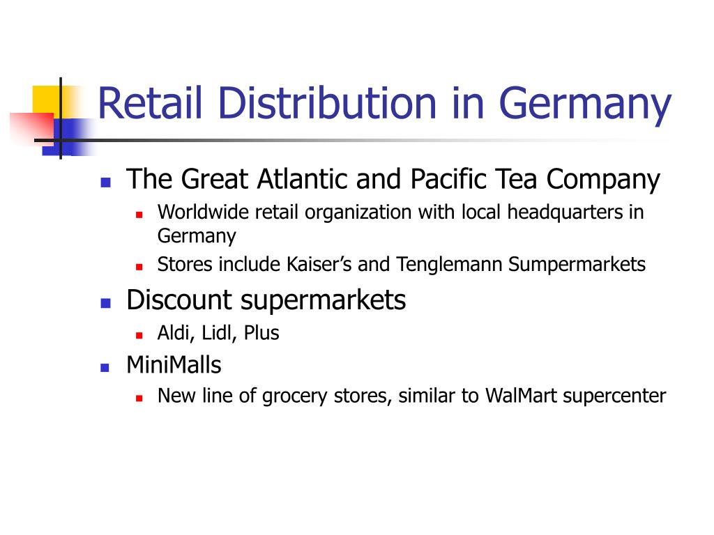Retail Distribution in Germany