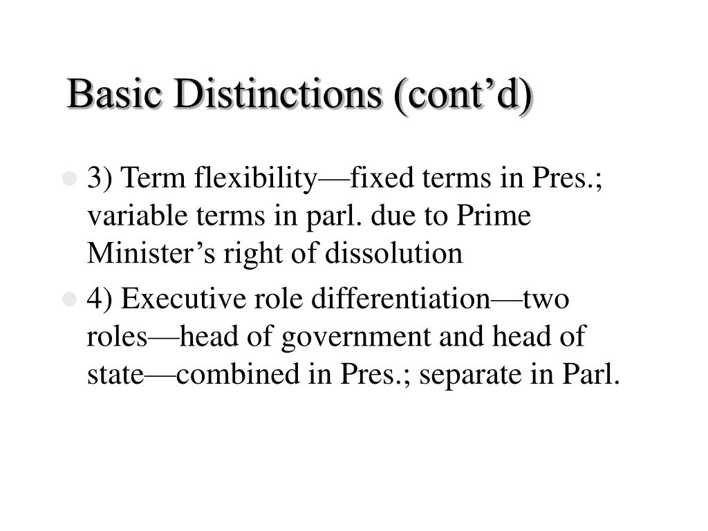 Basic Distinctions (cont'd)