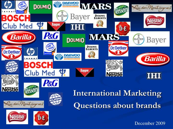 International marketing questions about brands