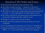 question 2 dr oetker and france