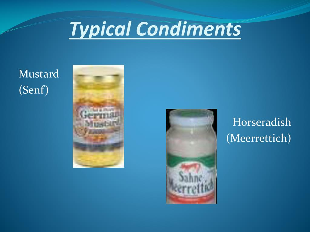 Typical Condiments