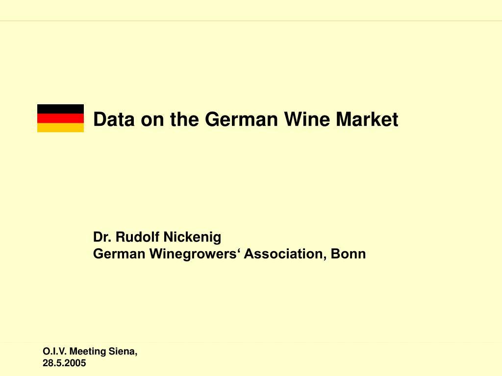 Data on the German Wine Market