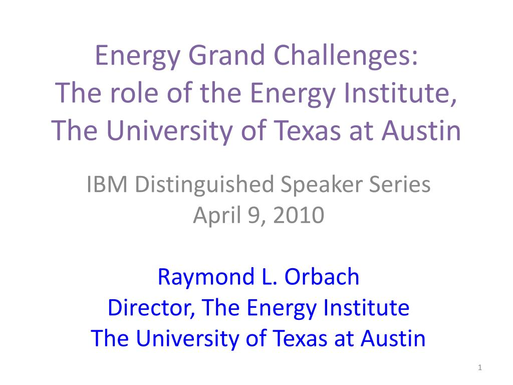 Energy Grand Challenges: